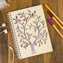 Fa borítású notesz, Gravírozott jegyzettömb, Bakancslista, Spirituális napló, Esküvői tervező, Szerettünk volna egy olyan kreatív társat megal...