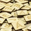 1 db Scrabble betű, betű ajándék, scrapbook, lézervágott, társasjáték, gravírozott nászajándék, Esküvő, Játék, Esküvői dekoráció, Társasjáték, Nyírfából készült teljes SCRABBLE betűkészlet,  100 darab betűvel.  Kreatív ajándékokhoz,..., Meska