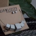 SIMPLICITY-BETON -nyaklánc, Ékszer, Nyaklánc, Ékszerkészítés, A SIMPLICITY BETON  láncok a beton eredeti színében készülnek. A golyók, kockák egy nem nikkelmente..., Meska