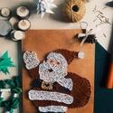 Mikulás, Dekoráció, Karácsonyi, adventi apróságok, Ünnepi dekoráció, Karácsonyi dekoráció, Famegmunkálás, Mindenmás, Fonalból készült Mikulás. Remek kiegészítője a téli hangulatnak. Gyerekeknek, felnőtteknek ajándékb..., Meska