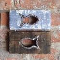Dupla halas szürke-barna kép, Dekoráció, Otthon, lakberendezés, Kép, Falikép, Famegmunkálás, Fémmegmunkálás, A kép mérete:  magasság: 20 cm szélesség: 18,5 cm  vastagság: 2,5 cm  A kép fa részei egy bontott f..., Meska