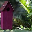 Házikó tavaszi színekben, Dekoráció, Otthon, lakberendezés, Vidám, őszies színű madáretetőre emlékeztető házikóink nagyon jól mutatnak a lakásban és kerti díszk..., Meska