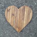 Szív hulladékfából, Dekoráció, Otthon, lakberendezés, Dísz, Falikép, Szív alakú fali dísz hulladékfából.  Magassága 40 cm, Meska