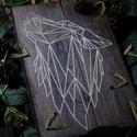 Gravírozott falikép farkas mintával, Otthon & Lakás, Kép & Falikép, Dekoráció, Gravírozás, pirográfia, Kézzel készített 18*30cm-es prémium Egger fából készült falikép., Meska