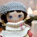 Tilda baba, Baba-mama-gyerek, Játék, Baba, babaház, 30 cm magas, bájos textil baba. Ruhadarabjai levehetőek.  Kiváló játszótárs. , Meska