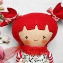 Rosie baba, Baba-mama-gyerek, Játék, Baba, babaház, 28 cm magas  textil baba.  Minden ruhadarabja levehető.   Arca kézzel festett, vízálló, nem maszatol..., Meska