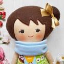 Mimi baba, Baba-mama-gyerek, Játék, Baba, babaház, 28 cm magas  textil baba.  Minden ruhadarabja levehető.   Arca kézzel festett, vízálló, nem maszatol..., Meska
