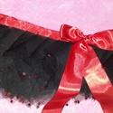 18+ szexi tüllszoknya, Ruha, divat, cipő, Női ruha, Tüll anyagból készült, virág alakú flitterekkel díszített, fekete színű, igencsak rövid, ..., Meska