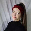 Csavart fejpánt, Ruha & Divat, Sál, Sapka, Kendő, Fejpánt, Horgolás, Ez a piros fejpánt nagyon puha anyagból készült, horgolt technikával, a hideg téli napokon praktiku..., Meska