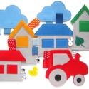 AZ ÉN KIS FALUM mesélő játék, kirakós játék, gyerekszoba dekoráció 7 db nagy figurával, Baba-mama-gyerek, Játék, Készségfejlesztő játék, Baba játék, Itt a tavaszi munkák ideje! Építsünk házat, induljon a traktor! Ha gyermekedet, unokádat izgalomba h..., Meska