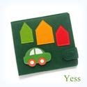 AUTÓ baba könyv / babakönyv, készségfejlesztő játszókönyv, babajáték, textilkönyv, csendeskönyv, matató könyv, Baba-mama-gyerek, Játék, Készségfejlesztő játék, Baba játék, Autó hátán autó :)  Saját tervezésű interaktív textil babakönyv, készségfejlesztő könyv, Montessori ..., Meska