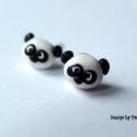 Panda bedugós fülbevaló, Ékszer, óra, Nyaklánc, Medál, A jól ismert Pici Panda Macit most a füledbe is teheted. Süthető gyurmából készültek, melyeket kiége..., Meska