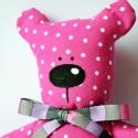 Pöttyös Mico, a marokmaci - pink-ÚJ!!!, Baba-mama-gyerek, Játék, Baba-mama kellék, Játékfigura, Nem tudod,hogy mit vigyél a barátnőd gyermekének születésnapja alkalmából ajándékba? Itt a tökéletes..., Meska