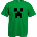 Minecraft mintás póló, Ruha, divat, cipő, Női ruha, Felsőrész, póló, Festett tárgyak, A nyomat speciális textilfestékből vagy flex fóliából készül, mely a mosást ugyanúgy bírja, mint ma..., Meska