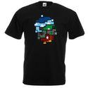 Minecraft mintás póló, Ruha, divat, cipő, Női ruha, Felsőrész, póló, Festett tárgyak, A nyomat flex fóliából készül, mely a mosást ugyanúgy bírja, mint maga a póló.  Egyedi kérésre kész..., Meska