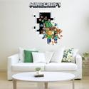 Minecraft mintás falmatrica 50x70cm, Dekoráció, Falmatrica, Fotó, grafika, rajz, illusztráció, Minecraft mintás falmatrica  Mérete kb.50x70 cm  Készleten van, bármikor rendelhető!  A termékek mé..., Meska