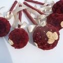 Papír virág.Esküvői csokor  bordó szett, Esküvő, Esküvői csokor, Papír virágokból készült gömb csokrok .Egyedi rendhagyó és tartós.Örök emlék!Más színb..., Meska
