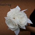 Rózsa papírvirág csokor, Dekoráció, Otthon, lakberendezés, Csokor, Asztaldísz, Papírművészet, Papír virágból készült csokor.Egyedi ajándék bármilyen alkalomra., Meska
