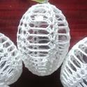 Horgolt húsvéti tojás, Dekoráció, Ünnepi dekoráció, Húsvéti díszek, Horgolás, Eladó a képen látható horgolt húsvéti tojás! (7db van) Darabja:1200Ft Tojás mérete:6cm magas, 4cm s..., Meska