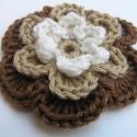 Cappuccino horgolt virág, Légy kreatív!Használd kedved és ízlésed szer...