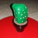 Kavicskaktusz 2, Dekoráció, Otthon, lakberendezés, Dísz, Kerti dísz, Duna parton szedett kavicsot festettem meg akrilfestékkel kaktuszosra. :) A cserépbe modellgipsz seg..., Meska