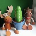 Kavicskaktusz 5, Dekoráció, Otthon, lakberendezés, Dísz, Kerti dísz, Duna parton szedett kavicsot festettem meg akrilfestékkel kaktuszosra. :) A cserépbe modellgipsz seg..., Meska