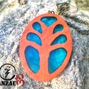 Egyedi életfa nyaklánc, Ékszer, Nyaklánc, Famegmunkálás, Ékszerkészítés, Egyedileg tervezett és kivitelezett, életfa motívumos, trópusi fa medál.  Számos kultúrában és vall..., Meska