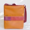 Colorblocking I., Narancssárga színű textilbőrből készült nő...
