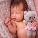 Horgolt cica figura, amigurumi cica, Horgolt cica figura.  Ideális újszülött fotóz...