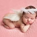 Újszülött angyal szett szárny + glória, A képen látható újszülött angyal szárny és...