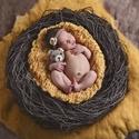 Újszülött 2 részes szett maci+ fejpánt, A képen látható újszülött 2 részes szettet ...