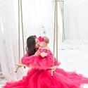 Anya-lánya szett, Baba-mama-gyerek, Ruha, divat, cipő, Kismamaruha, Gyerekruha, Varrás, A képen látható anya-lánya szetett   főként  fotózásra ajánlom.  Tartalmaz:  - 1 db felnőtt megkötő..., Meska