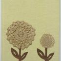 Virágom, virágom... romantikus füzet II., Hagymával festett horgolt csipkék teszik külön...