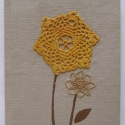 Virágom, virágom... romantikus füzet II., Diólevéllel, hagymával festett horgolt csipkék...