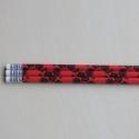 Megrendelés - piros népi motívumos 3 darabos ceruza szett , Cseresznyéslány Kingának készült, kérlek ne ...