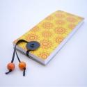 Narancs mintás jegyzettömb, ¤ eredeti, saját tervezésű borító ¤ töké...