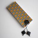 Narancssárga art deco jegyzettömb, ¤ eredeti, saját tervezésű borító ¤ töké...