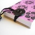 Rózsaszín népi motívumos jegyzettömb , Rózsaszín népi motívumos jegyzettömb.  ¤ ere...