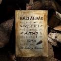 Házi Áldás modern formában , Otthon, lakberendezés, Dekoráció, Falikép, Kép, Decoupage, szalvétatechnika, Famegmunkálás, Házi Áldás újragondolt formában!  Mérete 21 X 30 cm.  Kézzel festett alapra (rétegelt fa), készült ..., Meska