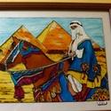 A Sivatagban c. üvegfestmény, Dekoráció, Kép, Gondos megmunkálással született meg ez az üvegfestményem, ami a sivatagban játszódik. Méret:..., Meska