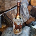 Lovas dísz pezsgős üvegre, Mindenmás, Furcsaságok, Paverpol technikával készült lovas palást, amit rá kell csúsztatni a pezsgős üvegre. Szalvé..., Meska