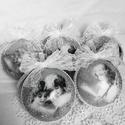 Vintage angyalok karácsonyfadisz 5 db-os készlet