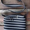 cipzártáska ezüst fekete Mini , Táska, Válltáska, oldaltáska, Mini cipzártáska (Kb. 20x18cm, szára kb 110cm)  Esti kimozduláshoz tökéletes kicsi táska, elf..., Meska