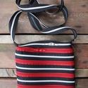 cipzártáskafekete-ezüst-piros Mini , Táska, Válltáska, oldaltáska, Mini cipzártáska (Kb. 20x18cm, szára kb 110cm)  Esti kimozduláshoz tökéletes kicsi táska, elf..., Meska