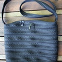 cipzártáska fekete nagy, Táska, Válltáska, oldaltáska, Nagy Ziptáska (Kb. 32x30cm, szára kb 110cm)  Ideális méretű táska azoknak, akik szeretik az eg..., Meska