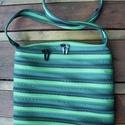 cipzártáska zöld nagy, Táska, Válltáska, oldaltáska, Nagy Ziptáska (Kb. 32x30cm, szára kb 110cm)  Ideális méretű táska azoknak, akik szeretik az eg..., Meska