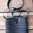 cipzártáska fekete Mini , Táska, Válltáska, oldaltáska, Mini cipzártáska (Kb. 20x18cm, szára kb 110cm)  Esti kimozduláshoz tökéletes kicsi táska, elf..., Meska