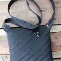 cipzártáska átlós fekete Mini , Táska, Válltáska, oldaltáska, Mini cipzártáska (Kb. 20x18cm, szára kb 110cm)  Esti kimozduláshoz tökéletes kicsi táska, elf..., Meska