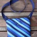 cipzártáska átlós kék Mini, Táska, Válltáska, oldaltáska, Mini cipzártáska (Kb. 20x18cm, szára kb 110cm)  Esti kimozduláshoz tökéletes kicsi táska, elf..., Meska