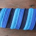 tolltartó  kék cipzárspirál, Táska, Pénztárca, tok, tárca, Tolltartó (kb. 21x7cm)  Ezek a tolltartók egyediek, praktikusak és szépek. Nincs többé unalom ..., Meska
